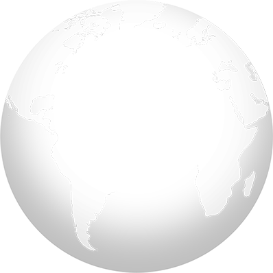 World map with selected locations